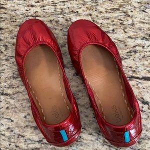 Size 7 Red Diamond Tieks